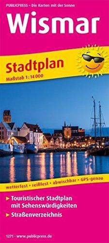 Wismar: Touristischer Stadtplan mit Sehenswürdigkeiten und Straßenverzeichnis. 1:14000 (Stadtplan/SP)