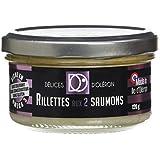 Délice d'Oléron Rillettes aux Deux Saumons 120 g - Lot de 8