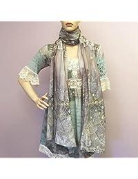 Van Asch perlas y encaje 100% algodón bufanda Wrap 83x 215cm