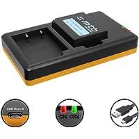 Batería + Cargador doble (USB) para NP-W126(S) / Fujifilm X100F / X-A1, A2, A3, A10 / X-E1, E2(S), M1, Pro1, Pro2, T2, T10, T20... / HS50EXR…- v. lista! (contiene cable micro USB )