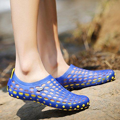 Xing Lin Sandales Pour Hommes Nouvelle Baotou Sandales Hommes Chaussons Femme Respirante En Plastique Antidérapant Sandales DÉté Chaussures Hommes Chaussures De Plage De Trou blue