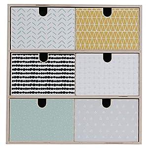 Limmaland Aufkleber passend für Deine IKEA MOPPE Mini-Kommode (Muster bunt) – Mini-Kommode Nicht inklusive