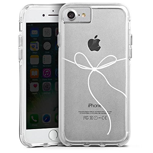 Apple iPhone 7 Plus Bumper Hülle Bumper Case Glitzer Hülle Schleife ohne Hintergrund Transparent Bumper Case transparent