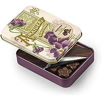 Chocolate Amatller Flors - Bombones chocolate 50% cacao al Cointreau en caja metal - 4 cajasde 72 gr. (Total 288 gr.)