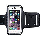 VTIN Brassard Sport iPhone 6/6S Etui Brassard avec Sangle Réglable pour le Jogging/Gym/Course Armband Sport compatible avec iPhone 7, 6, 6S (4.7-Inch), iPhone 5/5C/5S, Galaxy S3/S4, HTC, LG, Sony et les autres Smartphones inférieur à 5 Pouces ( Noir )