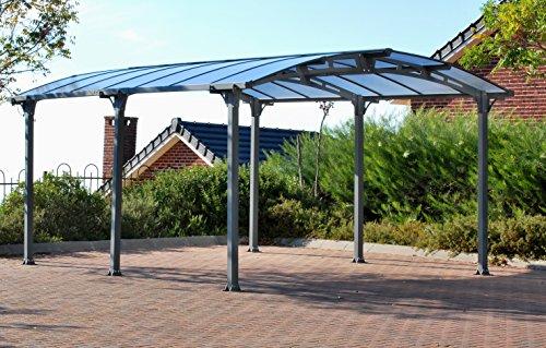 Palram Arcadia 5000 Carport, robuste Struktur für ganzjährige Nutzung, grau