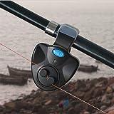 #6: Generic Black Small Mini Electronic Wireless ABS Fish Bite Alarm Sound Running LED Sensitive Mat Fishing Accessories