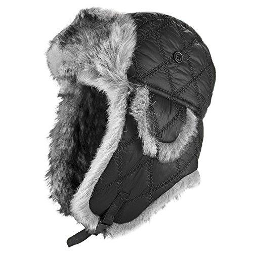 Fliegermütze Wintermütze mit Webpelz oder Kunstfell gefüttert Pilotenmütze M...