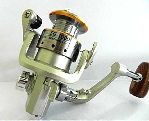 Haute qualité 1000A 6bb Spinning Moulinet de pêche gauche/droite à la main en aluminium Bobine Moulinet de pêche Bait Casting Moulinet, Green