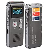 8GB Digit Diktiergerät Aufnahmegerät Voice Recorder WAV