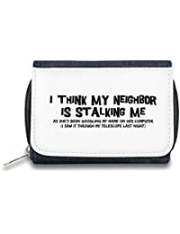 My neighbour is stalking me Monedero de Cremallera Bolso Zipper Wallet| The Stylish Pouch To Keep Everything Organized| Ideal For Everyday Use & Traveling| Authentic Accessories By Hamerson