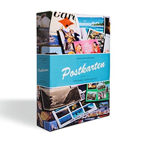 LEUCHTTURM Postkarten-Album mit 50 festeingebundenen Hüllen für 200 Ansichtskarten