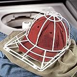 Lanspo Hut-waschender Schutz-Kappen-Unterlegscheiben-Baseball-Hut-Reinigungsmittel-Reinigungs-Schutz-Kugel-Kappen-waschender Rahmen-Rahmen (Weiß)