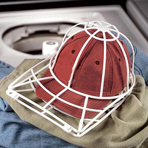 Hut-waschender Schutz-Kappen-Unterlegscheiben-Baseball-Hut-Reinigungsmittel-Reinigungs-Schutz-Kugel-Kappen-waschender Rahmen-Rahmen (Weiß)