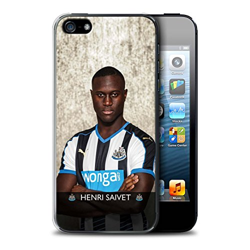 Offiziell Newcastle United FC Hülle / Case für Apple iPhone SE / Pack 25pcs Muster / NUFC Fussballspieler 15/16 Kollektion Saivet
