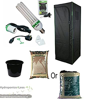 Best Complete Hydroponic Small Grow Room Tent Canna CFL Light Kit 40x40x140