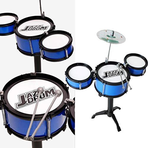 cokil 28 x 9 x 17 cm Kinder DREI Drum Set Kinder Percussion Musikinstrument Lernspielzeug Tambourine