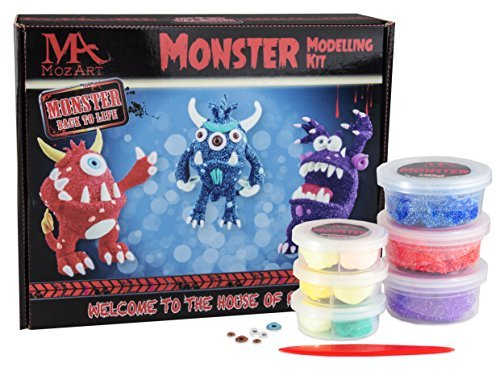 Monster-Knetmasse-Set - Knetdesigns mit Monster-Thema - Ungiftige Super Dough-Knete für Kinder - MozArt (Kit Cookie Monster)