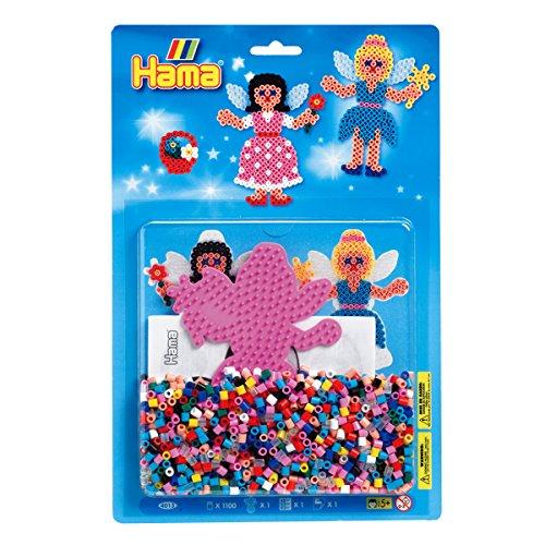 hama-4013-perlina-fata-circa-1100-perline-fusibili-1-tavola-forata-e-asse-da-carta