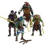 Las Tortugas Ninja Set de los 4 Personajes Figuras Articuladas +...