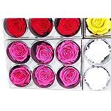 Loisirs créatifs RST/249G Tète de rose Fleur Fuchsia 5 x 5 x 5 cm