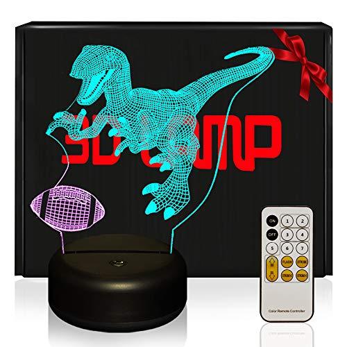 Football 3D Lampes avec Télécommande, QiLiTd LED Lampe 16...