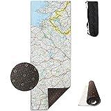 CC Decoration Yoga Mat,Mappa Dell'Irlanda Fitness Mat, Antiscivolo Absorbent Grandi Stuoie di Yoga per Esercizi Aerobici Pilates