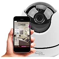 Domotify Cámara Wifi-Visión Nocturna - Cámara Wifi de videovigilancia (Accesorio de domótica, Visión nocturna, app Domotify para iOS y Android), color blanco