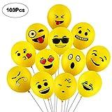 Yizhet 100 Pezzi Diversi palloni Emotion Palloncini Colorati Misti Palloncini Smile Decorazione vena di Festa di Natale di Compleanno di Cerimonia Nuziale Cerimonia Festa Compleanno Bambini ECC