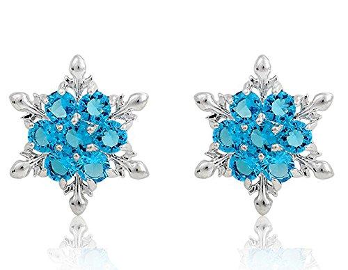 Findout Damen blau / weiß / pink / Amethyst / multicolor Kristall Schneeflocke Ohrringe. .für Frauen und Mädchen, (f1661) ()