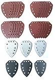 Set de 30 lijas para amoladora manual Parkside PAHS 10.8A1, PAHS 12A1, PHS 160A1, PHS 160B2, PHS 160B3, PMS 130, XQ, XQSE, dimensiones ;nticas a PHSZ3
