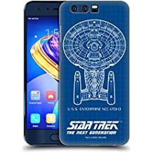 Ufficiale Star Trek USS Enterprise NCC-1701-D Nave Della Linea TNG Cover Retro Rigida per Huawei Honor 9