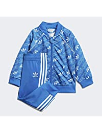 5fe5477e adidas I M TRF SST Tracksuit for Baby, Blue (Blue/White)