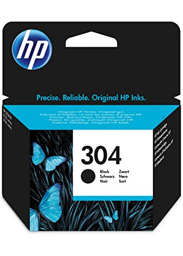 HP 304 Black Original Standard Capacity 4ml 120páginas Negro cartucho de tinta - Cartucho de tinta para impresoras (HP, Negro, DeskJet 3720, DeskJet 3730, Estándar, 4 ml, 120 páginas)