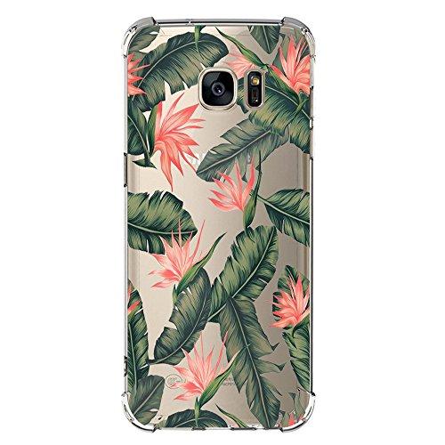 JEPER Funda Samsung Galaxy S6 S7 Carcasa Silicona Transparente Protector TPU Airbag Anti-Choque Ultra-Delgado Anti-arañazos Sandía Caso para Galaxy Case Caja (Galaxy S8, sandía)