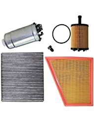 Paquete para inspección: 1x Filtro de aire 1x Filtro de habitáculo (Filtro antipolen) con carbon activo 1x Filtro de aceite 1x Filtro de combustible 1x Tornillo-tapón carter 1x Junta para el tornillo-