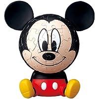 Comparador de precios 3D sphere puzzle Big Face Mini 60 Large Disney Mickey Mouse piece (diameter of about 7.6cm) (japan import) - precios baratos