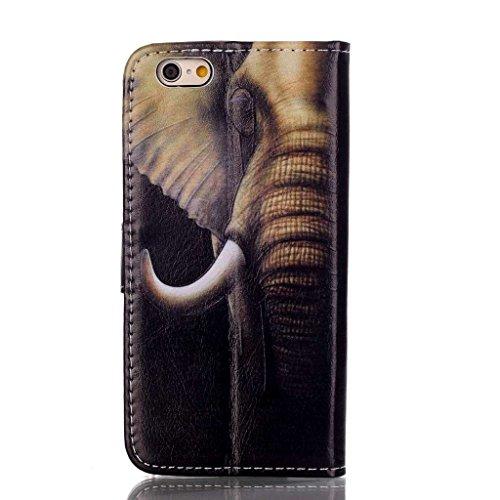 """MOONBAY MALL 3D Relief Design Premium Housse en PU Cuir Portefeuille Etui Housse Flip Case pour Apple iPhone 6 Plus / iPhone 6S Plus (5.5"""" inch) avec fonction de support - Stylet & film de protection  FD-04"""
