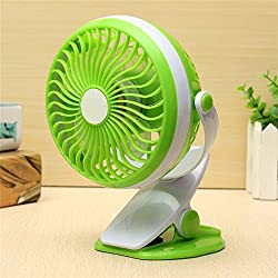 A Z Link USB Mini Portable Rechargeable Fan Clip Fan With 3 Grear 360 Degree Rotate New Design USB Cooling Fan-Assorted Colors