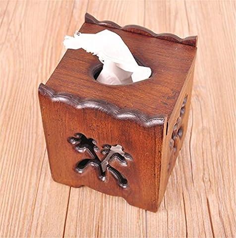 Porte-tissus Boîte bois collection multifonctionnelle de papier serviette boîte de pompage cartons Fournitures de chambre d