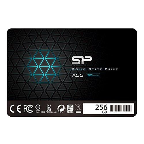 Silicon Power Ace A55 - SSD Disco Duro Sólido Interno 256 GB, 2.5', SATA III, 6 Gbit/s(3D NAND)