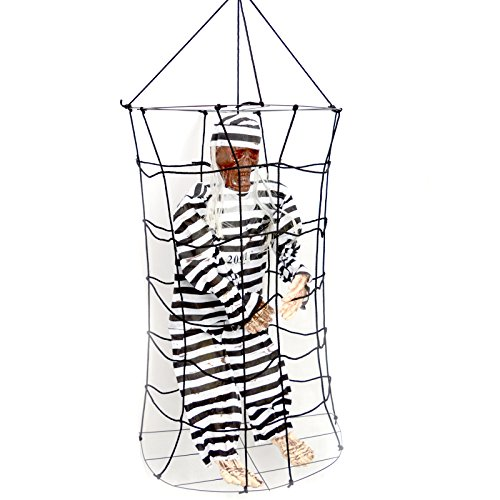 Halloween-Dekoration im Innenbereich käfigbetten Skelett Prisoner Man Skelett Spuk-Prop