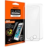 **2-Pack** Protection écran iPhone SE / 5S / 5C / 5, en Verre Trempé, Spigen® **Easy-Install Kit** [Extreme Résistant aux rayures] *Ultra Clair* protection verre trempé iPhone SE / 5S / 5C / 5 (SGP10111)