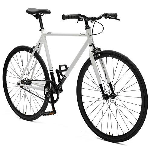 Critical Cycles 2318 Harper urbanes Eingang-Pendlerrad mit Starrgang - Weiß/Schwarz, 43 cm/X-Small