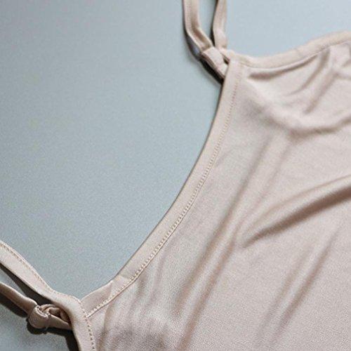 Baymate Damen Unterhemd Einfach BH Bustier Trägerlos Bandeau Haut