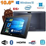 Tablette Windows 10 pro + OS Android 4.4 Dual Boot 10.6 pouces 32Go