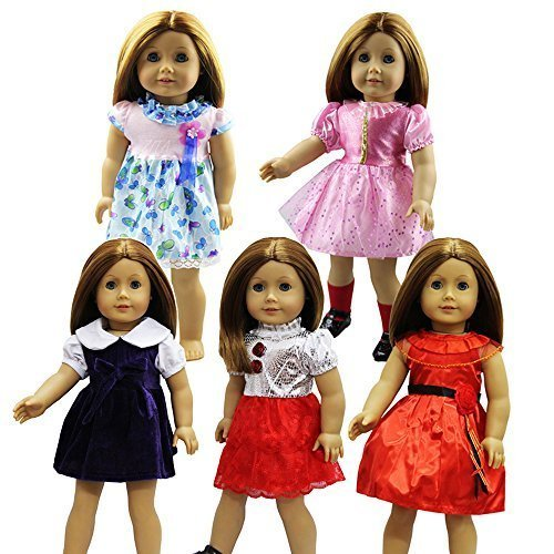 ZITA-ELEMENT-Lot-5pcs-Casual-Robe-Jupe-Pour-18-Poupe-American-Girl-Madame-Alexander-Our-Generation-Dolls-Au-Hasard