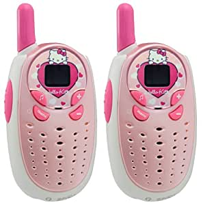 hello kitty 190098 talkie walkie avec fonction babyphone. Black Bedroom Furniture Sets. Home Design Ideas
