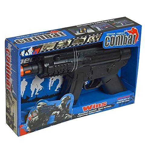 Kunststoff Mini MP5Gun Kinder Spielzeug–Licht und Sound
