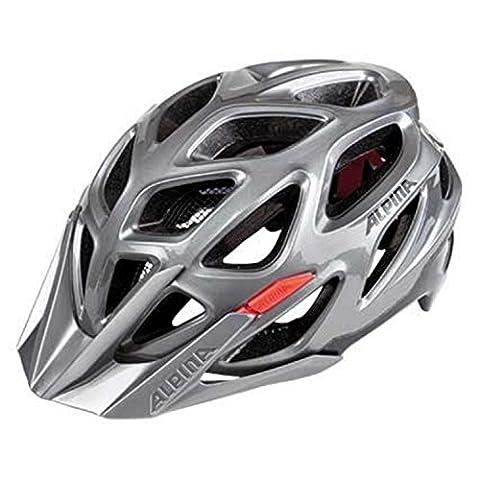 Alpina Mythos 3.0 Fahrradhelm - dark-silver black-red, Größe (Kopfumfang):59-64 cm